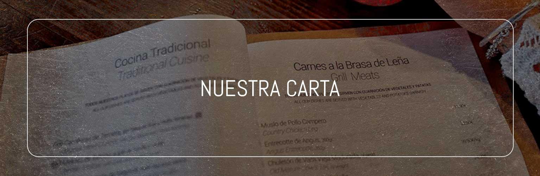 NUESTRA CARTA LA FUSIÓN RESTAURANTE